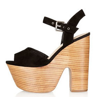 LASSIE Shiny Stack Platforms - Heels  - Shoes