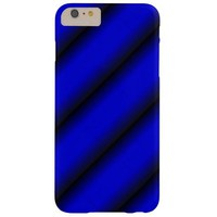 Electric Blue and Black Stripe Barely There iPhone 6 Plus Case