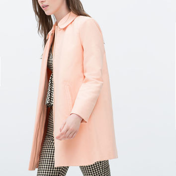 COAT WITH PETER PAN COLLAR New