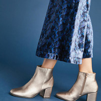 Vanessa Wu Metallic Booties