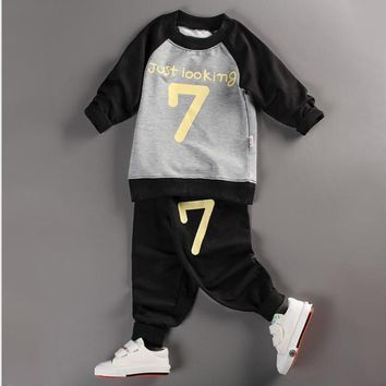 0-3T Toddler Baby Boys Girls Clothes Set Long Sleeve Sweater Set
