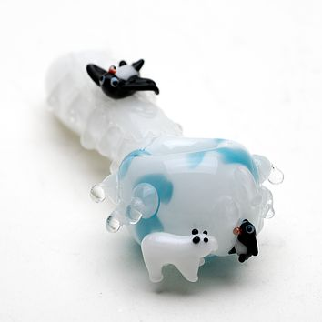 Empire Glass Icy Penguin Glass Pipe