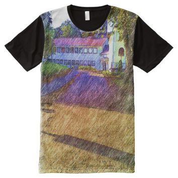Drawing effect of Building All-Over-Print Shirt