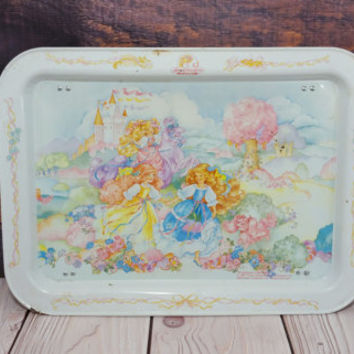Vintage Metal Lady Lovely Locks and the Pixietails TV Tray
