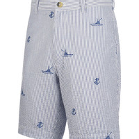 Men's Boat & Anchor Embroidered Fishing Short