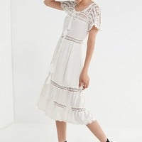 Cleobella Lace Crochet Midi Dress | Urban Outfitters