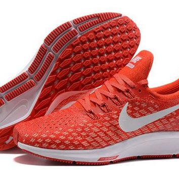 DCCKY4E Nike Air Zoom Pegasus 35 University Red & White  Running Shoes For Men
