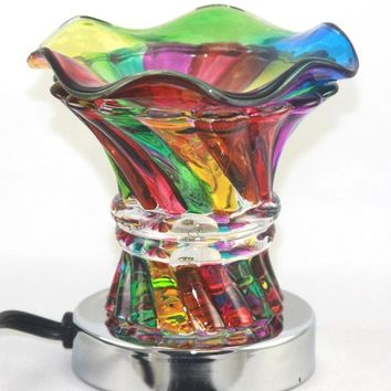 Rainbow Table Fragrance Aroma Lamp Oil Diffuser Wax Tart Candle Warmer Burner Home Decor Touch Lamp