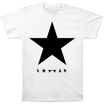 David Bowie Men's  Blackstar Slim Fit T-shirt White