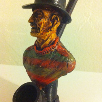 Tobacco Hand Made Pipe, Freddy Krueger Design.