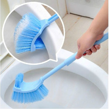 2017 Home Use Plastic Long Handle Bathroom Toilet Bowl Scrub Double Side Cleaning Brush
