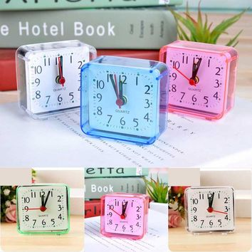 Vintage Square Trip Bed Travel Desktop Alarm Clock Outdoor Portable Table Creative Gift High Quality