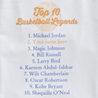 Personalized Basketball Legends T-Shirt