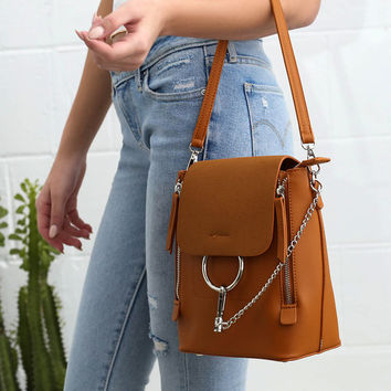 Sidewalk Stunner Brown Backpack