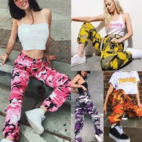 Women's Sports Camouflage Casual Cargo Pants
