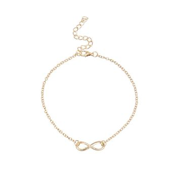 Infinity Symbol Anklet - Gold