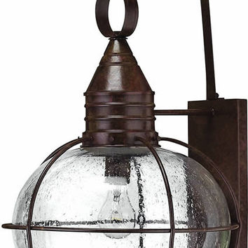"0-034074>27""h Cape Cod 1-Light Extra-Large Outdoor Wall Lantern Sienna Bronze"