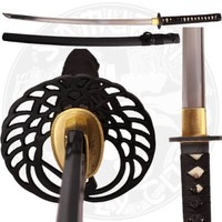 Ace Martial Arts Supply Classic Crane Tsuba Handmade Samurai Katana Sharp Sword