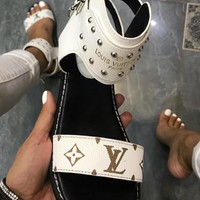 【Louis Vuitton】LV  One word with flat bottom high boots
