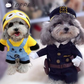 Pet Clothes for Small Dog Coats Funny Halloween Dog Costumes Puppy Jackets Cat Hoodies Spring Autumn Warm Outfit for Dogs 50