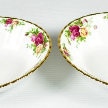 """Royal Albert, Old Country Roses 9"""" Oval Serving Bowls"""