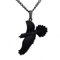 Black Raven Gothic Necklace Edgar Allan Poe