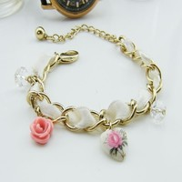 Free Shipping  Floral Heart Bracelet --B066