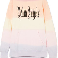 Palm Angels - Printed cotton-jersey hooded top