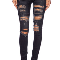 Lovers + Friends Ricky Skinny Jean with Chains in Palermo