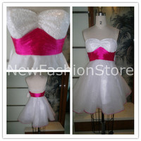 New Fashion Sweetheart Neckline Strapless Sleeveless Mini Party&Prom Dress