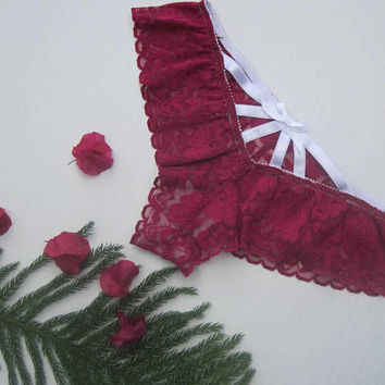 Harness panties, Valentines day gift, Valentines lingerie, plus size lingerie, plus size panties, cute lingerie, plum lingerie,
