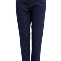 Two Button Front Denim Blue Skinny Jeans