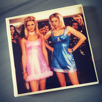Romy and Michele Movie Ceramic Drink Tile Coaster; Coffee Coaster; House Decor; House Warming Gift; Movie Lover; High School Reunion;Classic