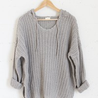 Aria Knit Sweater - Gray