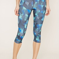 Active Abstract Capri Leggings | Forever 21 - 2000152326