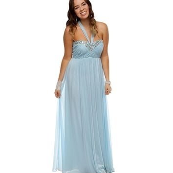 Promo-abigail- Dusty Blue Prom Dress