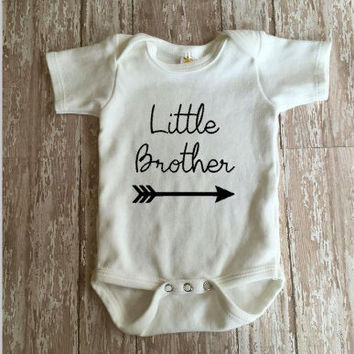 Little Brother Bodysuit    Baby Brother Bodysuit   Personalized Bodysuit    Baby Clothing