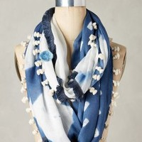 Shibori Infinity Scarf by Anthropologie in Blue Size: One Size Scarves
