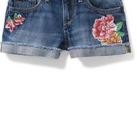 Floral-Patch Denim Cutoffs for Girls | Old Navy