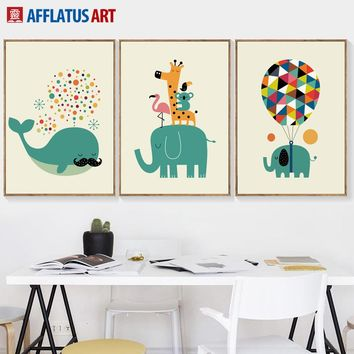 Whale Elephant Party Posters