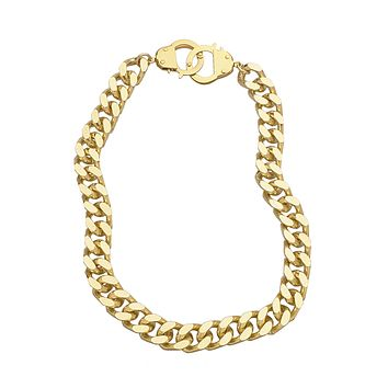 Curb Chain and Handcuff Clasp Necklace