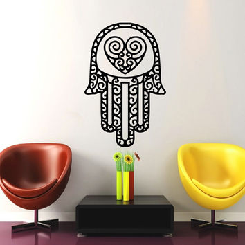 Hamsa Hand F Vinyl Wall Decal