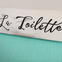 La Toilette sign - Toilette bathroom sign - Bathroom wall decor - Bathroom wall art - Rustic bathroom wall decor - Fixer upper decor