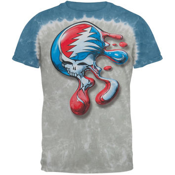 Grateful Dead - Steal Your Face Melt Tie Dye T-Shirt