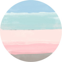 Pastel Beach Circle Wall Decal