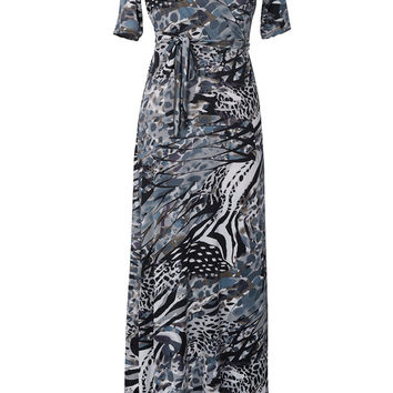 Cupshe Expressive Art Work Ink Maxi Dress