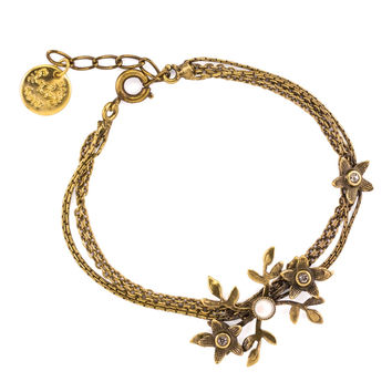 Bronze Flowers and Vines Bracelet by Eric et Lydie