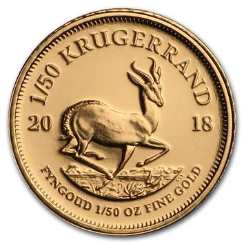2018 South Africa 1/50 oz Proof Gold Krugerrand