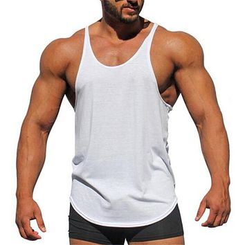db6ade2776d279 Muscleguys Brand Bodybuilding stringer tank tops men blank vest