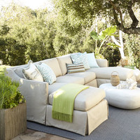 Harrison Outdoor Sectional & Armless Chair